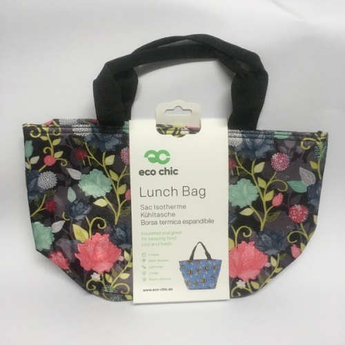 Lunch bag pliable fleurs - eco chic