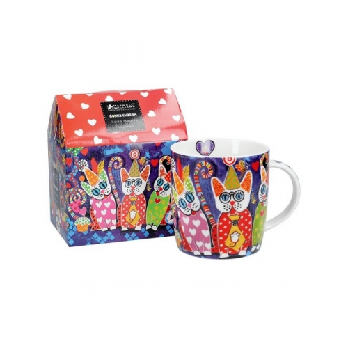 Mug love hearts cup cakes Donna Sharam